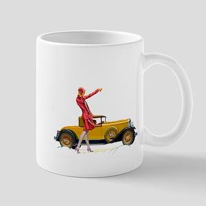 Fast Car and Flapper Lady Mugs