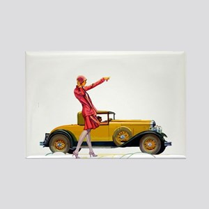 Fast Car and Flapper Lady Magnets