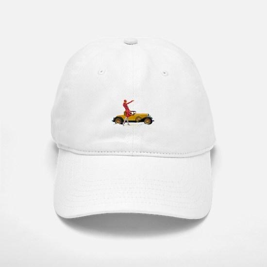 Fast Car and Flapper Lady Baseball Baseball Cap 34ff5f20547