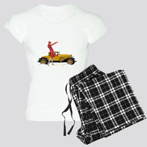 Fast Car and Flapper Lady Women's Light Pajamas