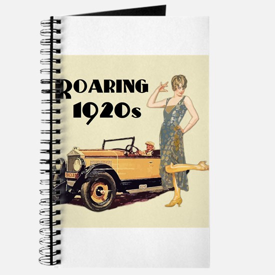 Flapper Lady and Fast Car - slogan Journal