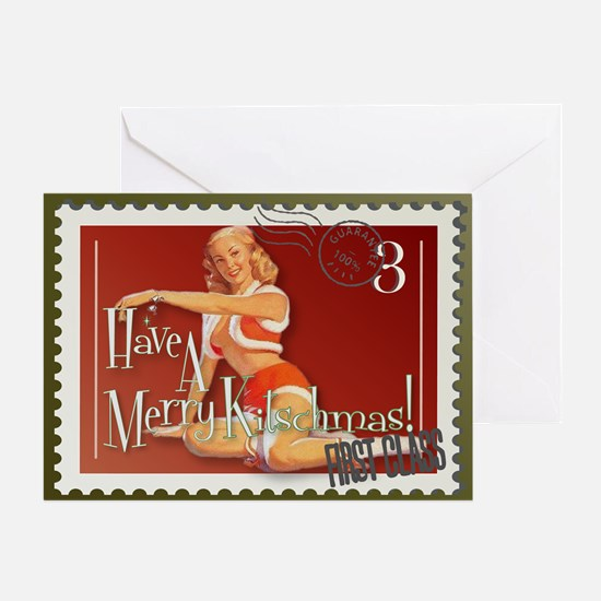 Merry Kitschmas Stamp Greeting Card