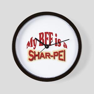 BFF Shar-Pei Wall Clock
