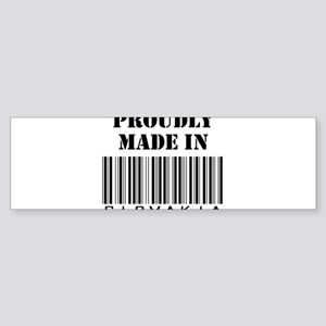 Proudly Made in Slovakia Bumper Sticker