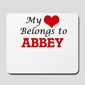 My heart belongs to Abbey Mousepad