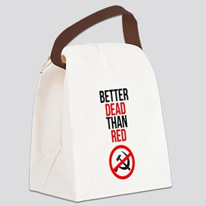Better Dead than Red Canvas Lunch Bag