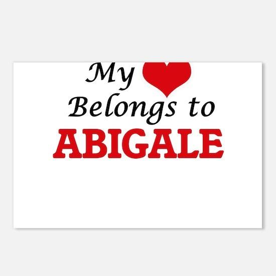 My heart belongs to Abiga Postcards (Package of 8)