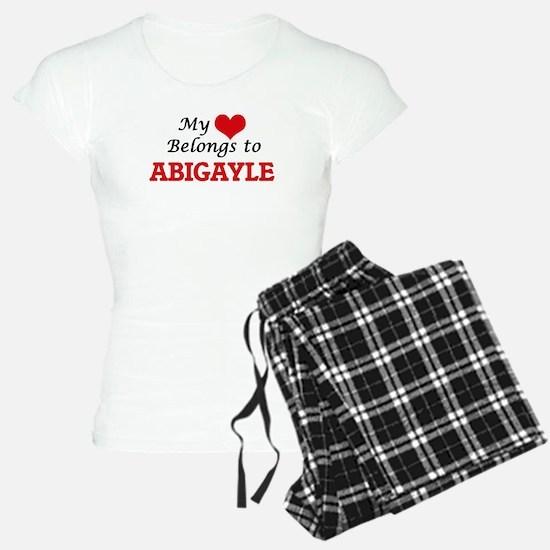 My heart belongs to Abigayl Pajamas