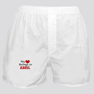 My heart belongs to Abril Boxer Shorts