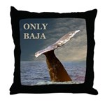 ONLY BAJA WILD SIDE WHALE Throw Pillow
