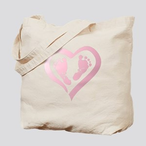 Baby Prints in Heart by LH Tote Bag
