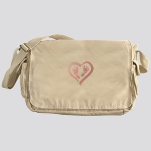 Baby Prints in Heart by LH Messenger Bag