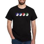 Yin Yang rainbow Dark T-Shirt
