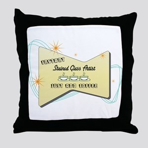 Instant Stained Glass Artist Throw Pillow