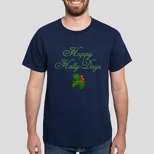 Happy Holly Days Holiday Dark T-Shirt