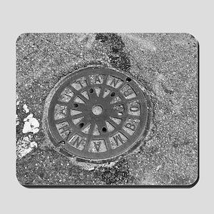 Manhole Cover Luke's Fave Mousepad