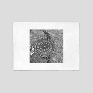 Manhole Cover Luke's Fave 5'x7'Area Rug
