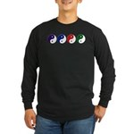 Yin Yang rainbow Long Sleeve Dark T-Shirt