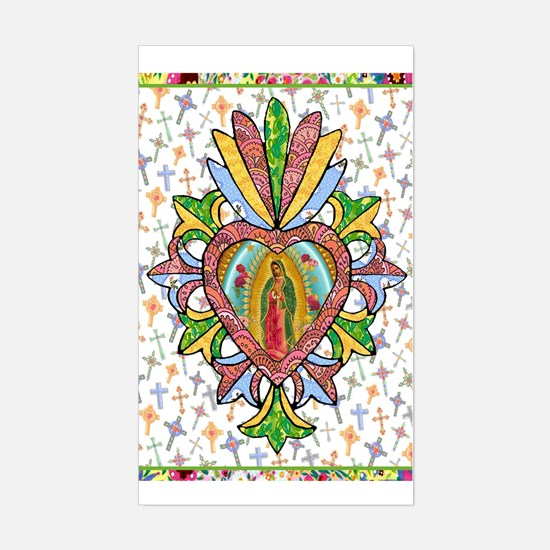Virgin of Guadalupe Milagro Rectangle Decal