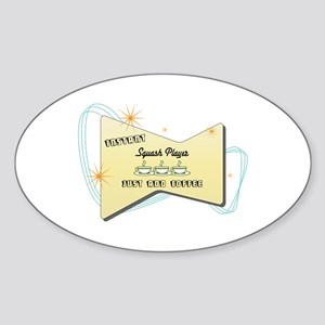 Instant Squash Player Oval Sticker