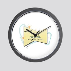 Instant Squash Player Wall Clock