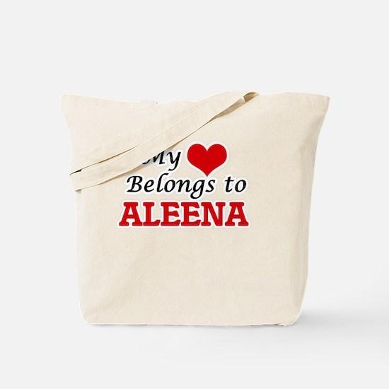 My heart belongs to Aleena Tote Bag