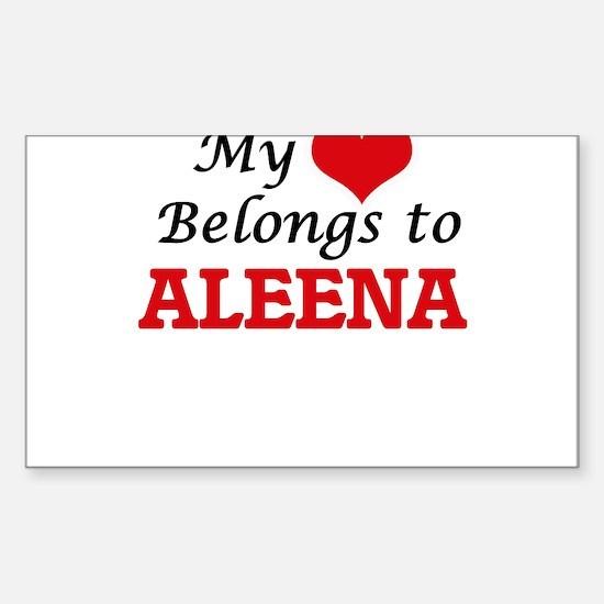 My heart belongs to Aleena Decal