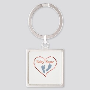 Baby Feet and Heart Keychains