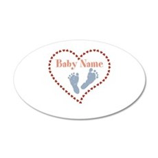 Baby Feet and Heart Wall Decal