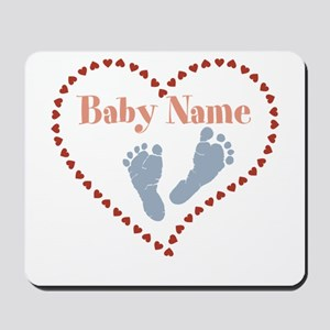 Baby Feet and Heart Mousepad