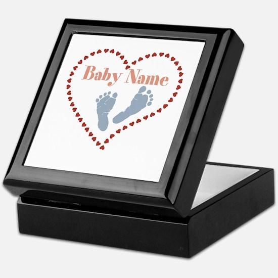 Baby Feet and Heart Keepsake Box