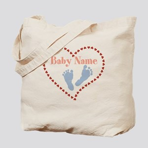 Baby Feet and Heart Tote Bag