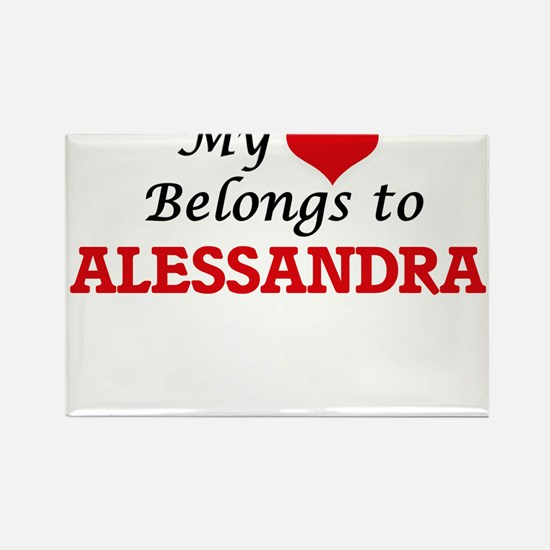My heart belongs to Alessandra Magnets