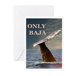 ONLY BAJA WILD SIDE WHALE Greeting Cards (Pk of 10