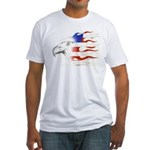 Flamin' American Eagle Fitted T-Shirt