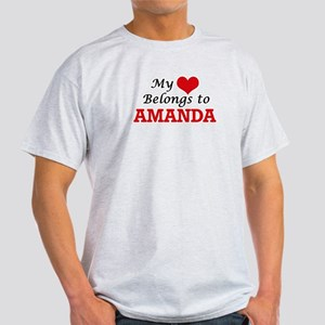 My heart belongs to Amanda T-Shirt