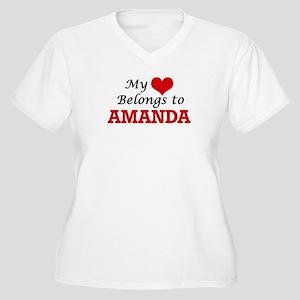 My heart belongs to Amanda Plus Size T-Shirt