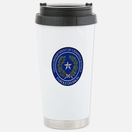 TDCJ Parole Division Stainless Steel Travel Mug