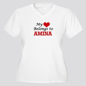 My heart belongs to Amina Plus Size T-Shirt
