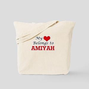 My heart belongs to Amiyah Tote Bag