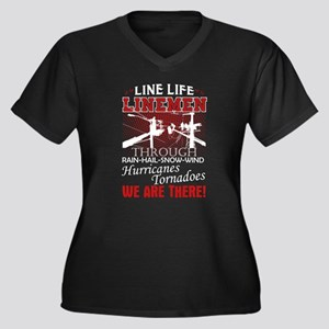 Lineman We Are There Plus Size T-Shirt