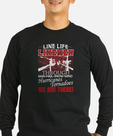 Lineman We Are There Long Sleeve T-Shirt
