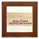 Ron Paul Preamble-C Framed Tile