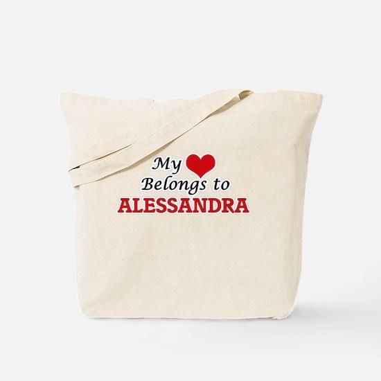 My heart belongs to Alessandra Tote Bag