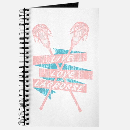 Distressed Live Love Lacrosse LAX Banner b Journal