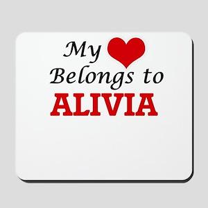 My heart belongs to Alivia Mousepad