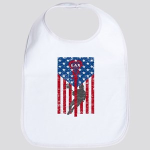 American Flag Red White and Blue LAX Lacrosse Bib