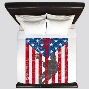 American Flag Red White and Blue LAX La King Duvet