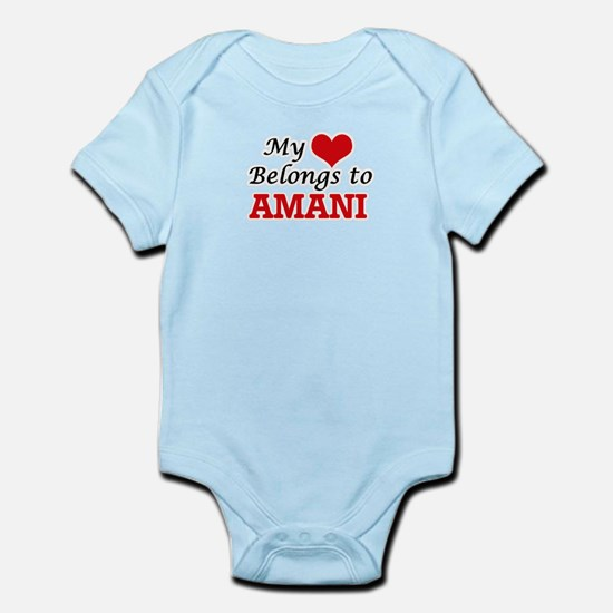 My heart belongs to Amani Body Suit