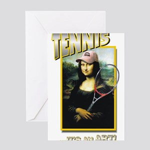 TENNIS...IT'S AN ART! (MONA L Greeting Cards (Pack